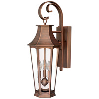 Vaxcel T0120 Preston 3 Light 27 inch Brushed Copper Outdoor Wall