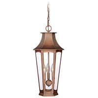 Vaxcel T0122 Preston 3 Light 10 inch Brushed Copper Outdoor Pendant