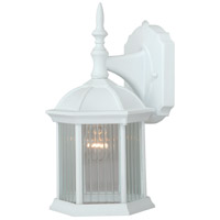 Vaxcel T0134 Kingston 1 Light 12 inch Textured White Outdoor Wall