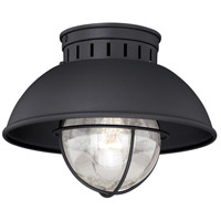 Vaxcel T0142 Harwich 1 Light 10 inch Textured Black Outdoor Ceiling