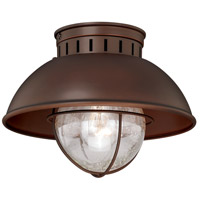 Vaxcel T0143 Harwich 1 Light 10 inch Burnished Bronze Outdoor Flush Mount