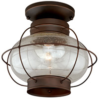 Vaxcel T0145 Chatham 1 Light 13 inch Burnished Bronze Outdoor Flush Mount