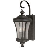 Vaxcel T0147 Hanover 3 Light 21 inch Brushed Iron Outdoor Wall