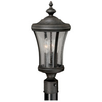 Vaxcel T0149 Hanover 3 Light 20 inch Brushed Iron Outdoor Post