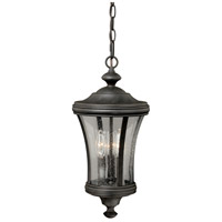 Vaxcel T0150 Hanover 3 Light 9 inch Brushed Iron Outdoor Pendant