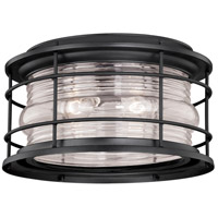 Vaxcel T0167 Hyannis 2 Light 13 inch Textured Black Outdoor Ceiling
