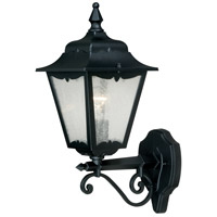 Vaxcel T0168 Whitney 1 Light 17 inch Textured Black Outdoor Wall
