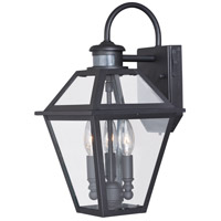 Vaxcel T0189 Nottingham 3 Light 17 inch Textured Black Outdoor Wall Light