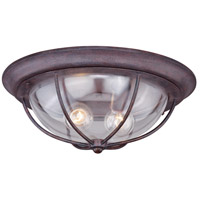 Vaxcel T0220 Dockside 2 Light 15 inch Weathered Patina Outdoor Ceiling