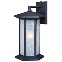 Vaxcel T0222 Halsted 1 Light 19 inch Textured Black Outdoor Wall Light