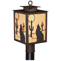 Vaxcel T0228 Calexico 1 Light 17 inch Burnished Bronze Outdoor Post