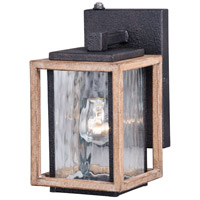 Vaxcel T0242 Modoc 1 Light 9 inch Textured Dark Bronze and Distressed Oak Outdoor Wall Light