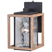 Vaxcel T0243 Modoc 1 Light 12 inch Textured Dark Bronze and Distressed Oak Outdoor Wall Sconce