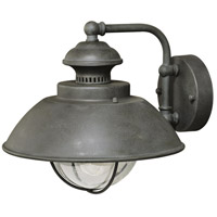 Textured Gray Steel Outdoor Wall Lights
