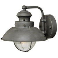 Vaxcel T0268 Harwich 1 Light 8 inch Textured Gray Outdoor Wall
