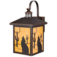 Vaxcel T0273 Calexico 1 Light 18 inch Burnished Bronze Outdoor Wall Light