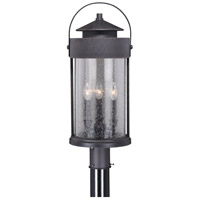 Vaxcel T0289 Cumberland 3 Light 25 inch Rust Iron Outdoor Post