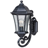 Vaxcel T0300 Aberdeen 1 Light 17 inch Shiny Black Outdoor Wall Light