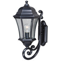 Vaxcel T0301 Aberdeen 1 Light 20 inch Shiny Black Outdoor Wall Light