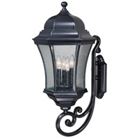 Vaxcel T0302 Aberdeen 4 Light 27 inch Shiny Black Outdoor Wall Light