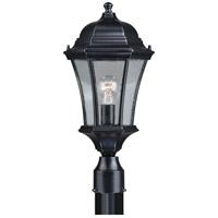 Vaxcel T0304 Aberdeen 1 Light 20 inch Shiny Black Outdoor Post