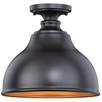 Vaxcel T0315 Delano 1 Light 11 inch Outer Oil Burnished Bronze with Inner Light Gold Outdoor Flush Mount
