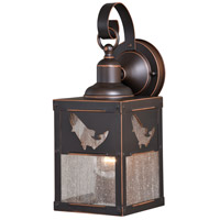 Vaxcel T0332 Missoula 1 Light 13 inch Burnished Bronze Outdoor Wall Light