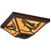 Vaxcel T0335 Missoula 3 Light 14 inch Burnished Bronze Flush Mount Ceiling Light