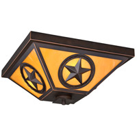 Vaxcel T0336 Ranger 3 Light 14 inch Burnished Bronze Flush Mount Ceiling Light