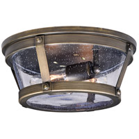 Vaxcel T0342 Bruges 2 Light 12 inch Parisian Bronze Outdoor Flush Mount