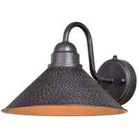 Vaxcel T0350 Outland 1 Light 9 inch Aged Iron and Light Gold Outdoor Wall
