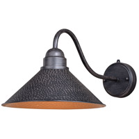 Vaxcel T0351 Outland 1 Light 10 inch Aged Iron and Light Gold Outdoor Wall