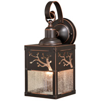 Vaxcel T0355 Alberta 1 Light 13 inch Burnished Bronze Outdoor Wall