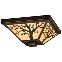Vaxcel T0356 Alberta 3 Light 14 inch Burnished Bronze Outdoor Ceiling
