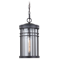 Vaxcel T0359 Wrightwood 1 Light 8 inch Vintage Black Outdoor Pendant