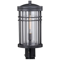 Vaxcel T0360 Wrightwood 1 Light 18 inch Vintage Black Outdoor Post