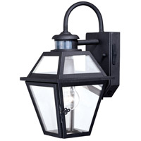 Nottingham 1 Light 14 inch Textured Black Outdoor Wall Light