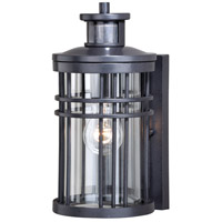 Vaxcel T0366 Wrightwood 1 Light 12 inch Vintage Black Outdoor Wall Light