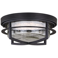 Logan LED 13 inch Carbon Bronze Outdoor Flush Mount