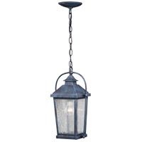 Vaxcel T0380 Lexington 1 Light 8 inch Colonial Gray Outdoor Pendant