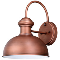 Vaxcel T0409 Franklin 1 Light 13 inch Brushed Copper Outdoor Wall