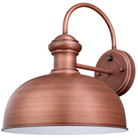 Vaxcel T0411 Franklin 1 Light 15 inch Brushed Copper Outdoor Wall Light