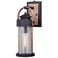Vaxcel T0445 Cumberland 1 Light 16 inch Textured Dark Bronze and Burnished Oak Outdoor Wall Sconce