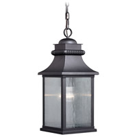 Vaxcel T0471 Cambridge 1 Light 8 inch Oil Rubbed Bronze Outdoor Pendant