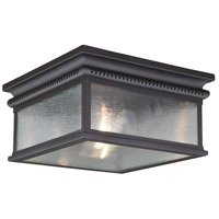 Vaxcel T0472 Cambridge 2 Light 12 inch Oil Rubbed Bronze Outdoor Flush Mount