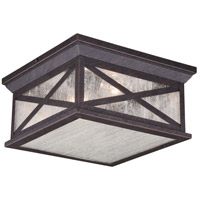 Vaxcel T0477 Maxwell 2 Light 11 inch Rust Iron Outdoor Flush Mount