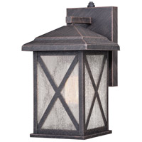 Vaxcel T0478 Maxwell 1 Light 12 inch Rust Iron Outdoor Wall