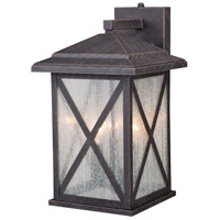 Vaxcel T0479 Maxwell 3 Light 16 inch Rust Iron Outdoor Wall