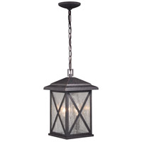 Vaxcel T0480 Maxwell 3 Light 9 inch Rust Iron Outdoor Pendant