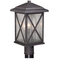 Vaxcel T0481 Maxwell 1 Light 17 inch Rust Iron Outdoor Post